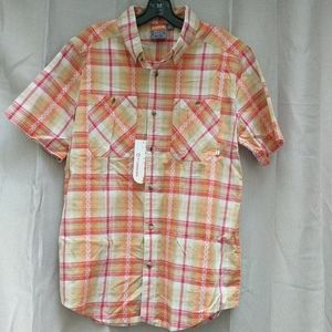NWT Merrell Charlton YD Short Sleeve Button Up